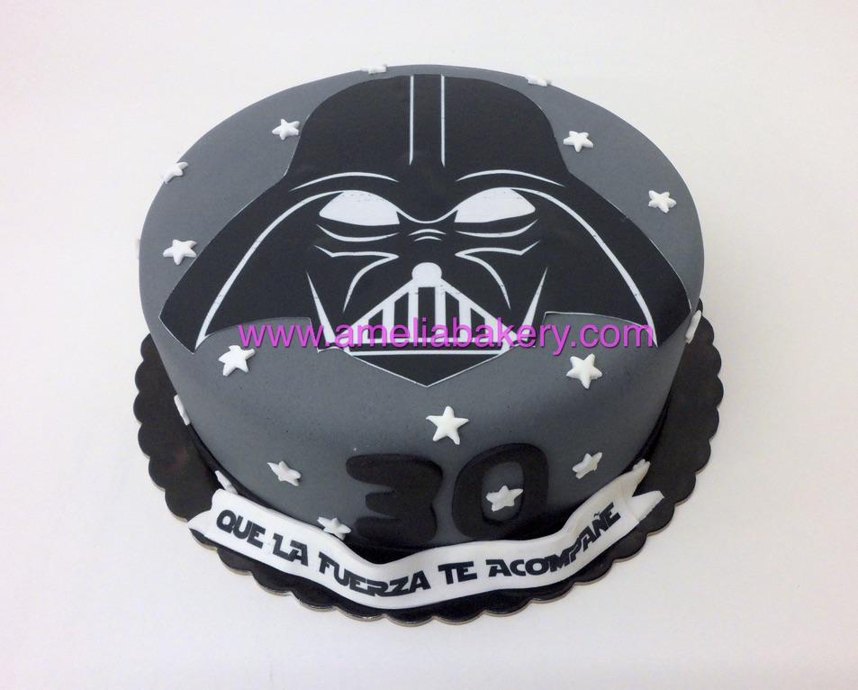 Tarta Fondant Star Wars Oblea Darth Vader