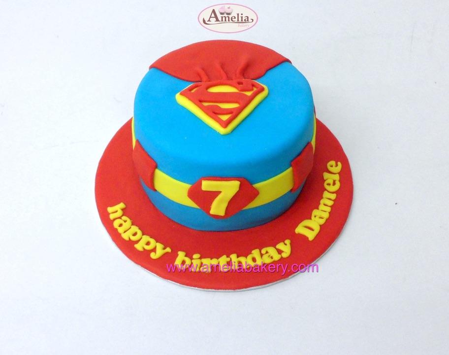 Tarta Fondant Superman