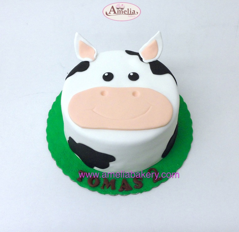 Tarta-vaca-infantil-fondant