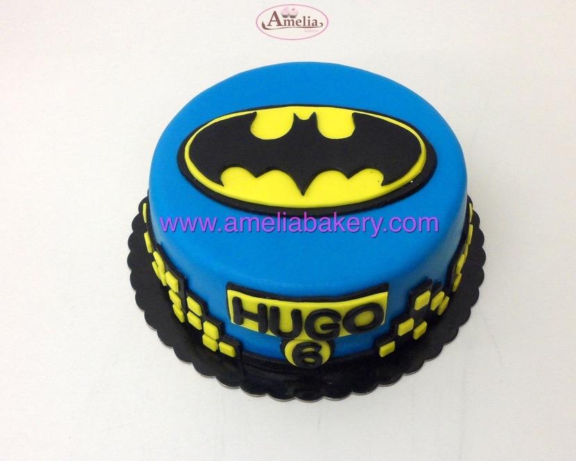 Tarta fondant superheroes Batman